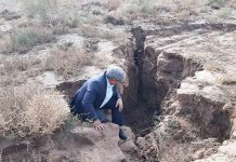 tehran sinking crack sinkhole iran, ground sinking under tehran iran