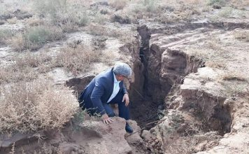 tehran sinking crack sinkhole iran, ground sinking under tehran iran