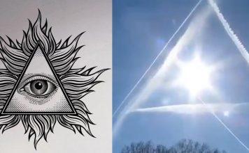 sing in the sky, illuminati all seeing eye appears in sky, sky all seeing eye video, illuminati all seeing eyes appear in the sky video