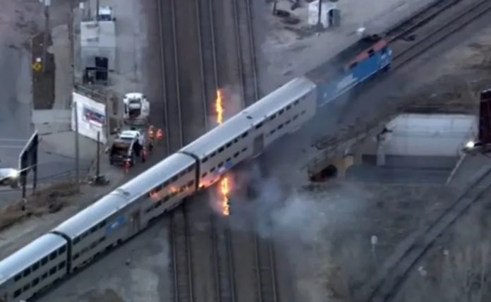 It's so cold in Chicago, crews had to set fire to commuter rail tracks to keep the trains moving smoothly