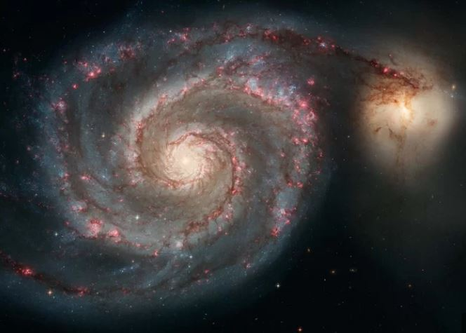 galaxy collision, milky way lmc galaxy collision