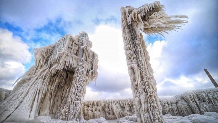 ice sculptures lake erie, ice sculptures lake erie january 2019, ice sculptures lake erie pictures, ice sculptures lake erie video