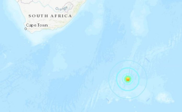 strong earthquake prince edward islands antarctica, strong earthquake prince edward islands antarctica map