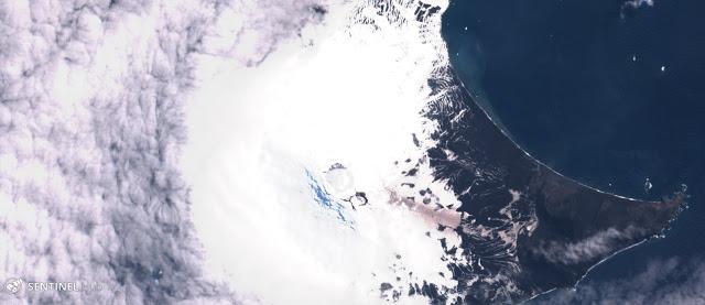 volcano eruption south sandwich island, volcano eruption south sandwich island 2019, volcano eruption south sandwich island satellite image