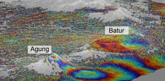 agung batur volcano indonesia