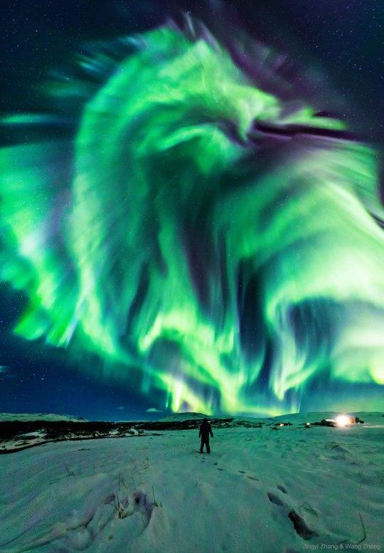 dragon aurora, mysterious dragon aurora, dragon aurora picture, dragon aurora video