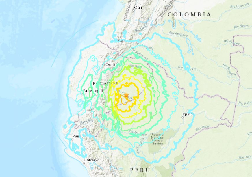 earthquake ecuador peru colombia feb 22 2019, M7.5 earthquake ecuador peru colombia feb 22 2019