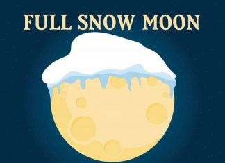 full snow moon, Super Full Snow Moon on February 19 2019