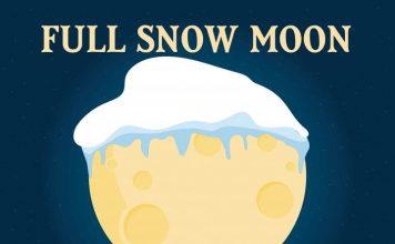full snow moon, Super Full Snow Moon on February 19 2019