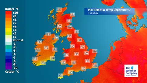 temperature record uk, uk hottest february on record 2019, hottest february on record in 2019 for uk