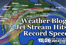 jet stream record speed usa