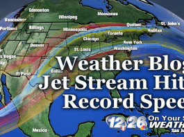 jet stream record speed usa