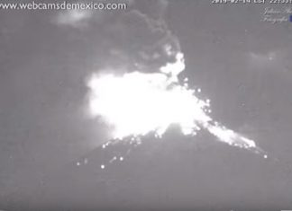 popocatepetl volcano eruption Feb 24 2019