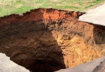 powell tennessee sinkhole, powell tennessee sinkhole bomb cyclone, powell tennessee sinkhole february 2019