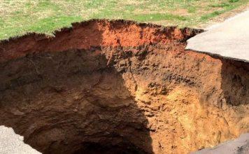 powell tennessee sinkhole, powell tennessee sinkhole bomb cyclone, powell tennessee sinkhole february 2019