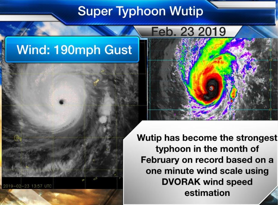 Wutip becomes strongest typhoon in February as it slams Guam with rain, wind
