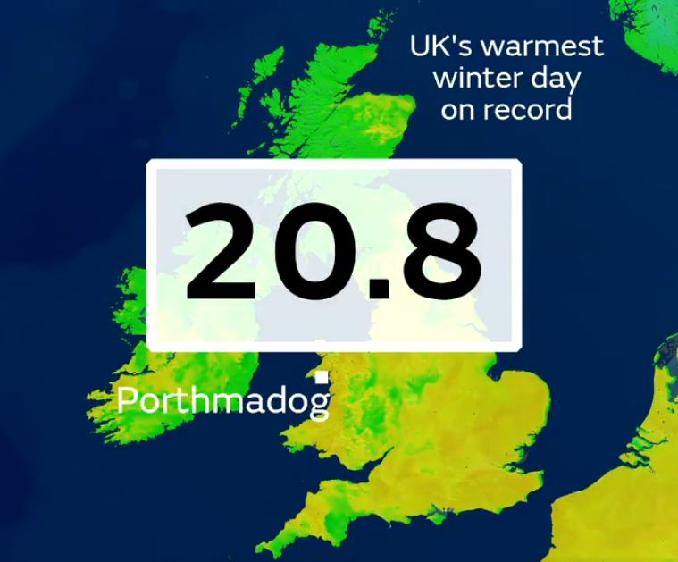 uk warmest winter day on record, uk warmest february day on record, temperature record uk, uk hottest february on record 2019, hottest february on record in 2019 for uk
