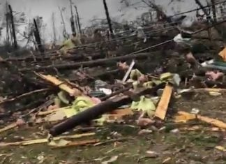 alabama tornado damage, alabama tornado damage video, alabama tornado damage picture, At least two people have been killed by a tornado that caused the National Weather Service to declare tornado emergencies Sunday afternoon for parts of Alabama and Georgia as severe storms moved through the South.