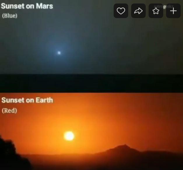 blue sunset mars orange sunset earth, blue sunset mars orange sunset earth video, blue sunset mars orange sunset earth picture