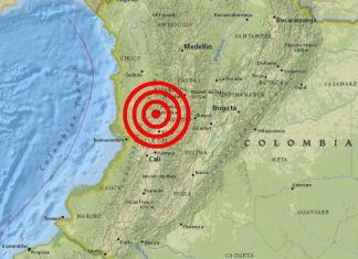 colombia earthquake, colombia earthquake march 23 2019, M6.1 earthquake shakes Colombia on March 23 2019