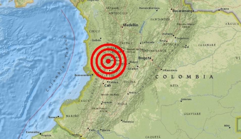 colombia earthquake, colombia earthquake march 23 2019, M6.1 earthquake shakes Colombia on March 23 2019