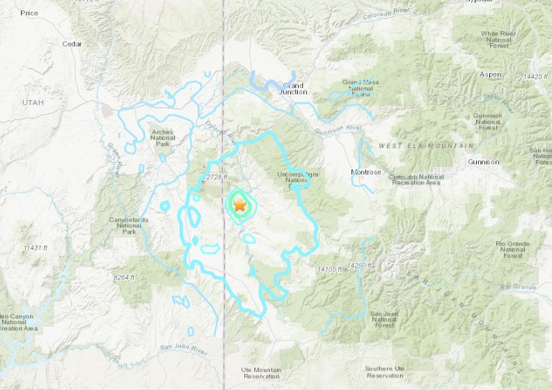 Very shallow M5.3 earthquake - rapidly downgraded to M4.6 by USGS ...