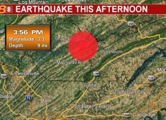 earthquake tennessee, earthquake tennessee march 5 2019, earthquake maynardville tennessee