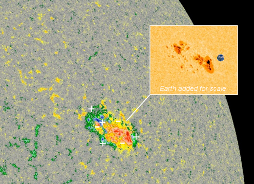 sunspot, new sunspot, big sunspot march 2019