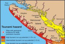 Vancouver Island is overdue for a M7.0 earthquake and in line for a devastating tsunami earthquake