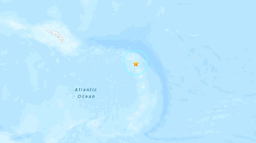 M6.0 earthquake south sandwich islands