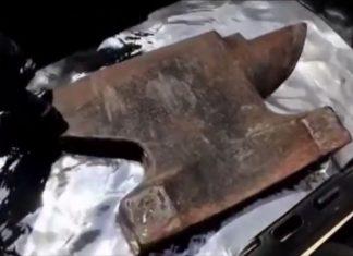 anvil floats on liquid mercury, anvil floats on liquid mercury video