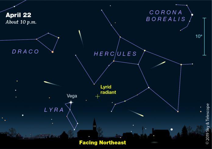 lyrid meteor shower, lyrid meteor shower map, lyrid meteor shower video, lyrid meteor shower pictures