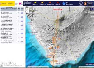 tenerife earthquake swarm april 2019, tenerife earthquake swarm april 2019 map