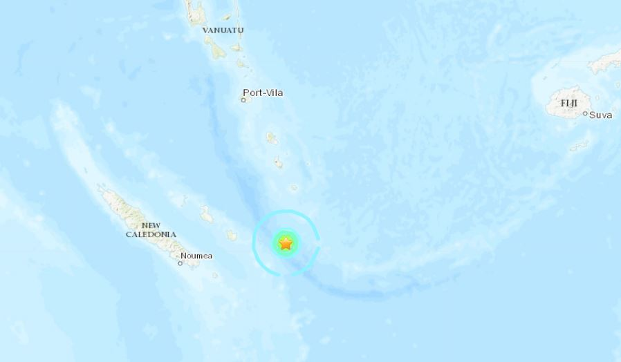 M6.0 earthquake new caledonia may 19 2019, M6.0 earthquake new caledonia may 19 2019 map