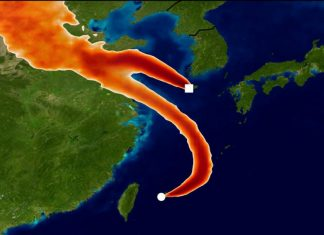 In this graphic, monitoring stations in Japan and Korea designed to track unwanted emissions in the atmosphere attempt to pinpoint the origin of an increase in CFC-11 emissions. Tracking the gas' presence and weather conditions, scientists concluded it originated from eastern mainland China. A new study published May 22, 2019, found that 40 to 60 per cent of global CFC-11 emissions originated from the region.UNIVERSITY O