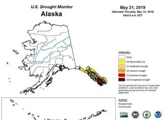 Southeast Alaska experiencing first recorded extreme drought