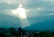 Jesus Christ appears above Argentina in May 2019, Jesus Christ appears above Argentina in May 2019 photo, Shape ressembling Jesus Christ appears above Argentina in May 2019