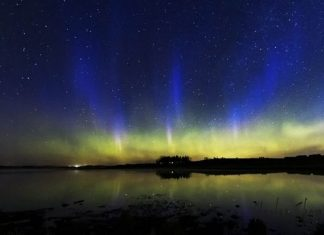 blue auroras calgary canada may 2019, cme , northern lights, blue aurora pictures
