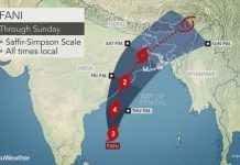 cyclone fani, cyclone fani may 2019, cyclone fani india, Life-threatening cyclone Fani forecast to make a direct hit on eastern India coast end of the week