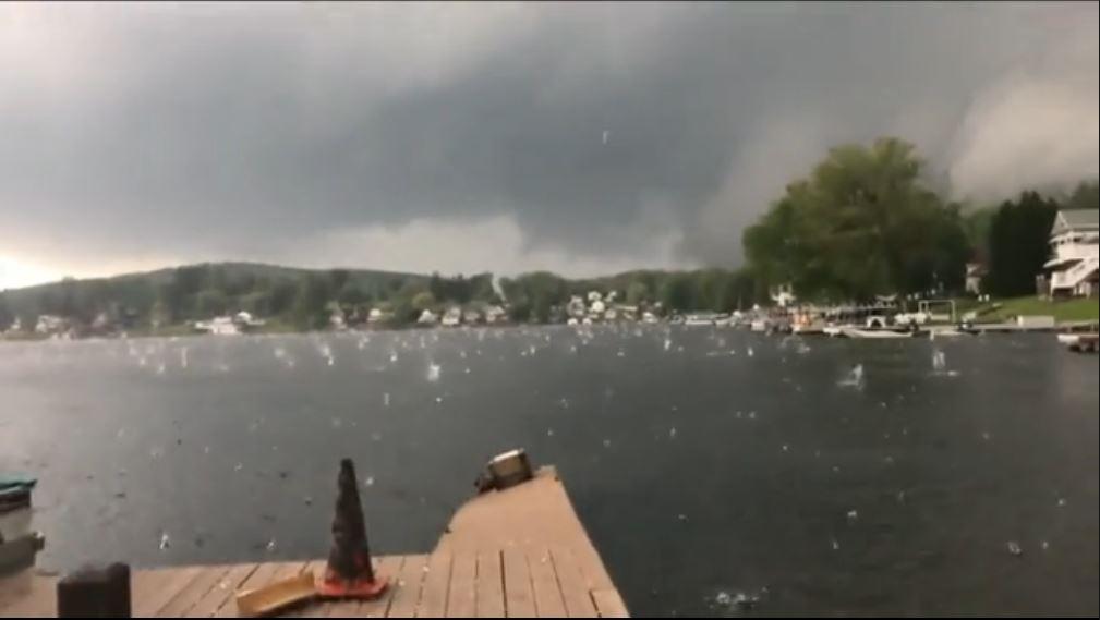 Massive baseball-sized hail pounds Lake Winola, Pennsylvania Monster-hail-lake-winola-pennsylvania