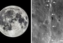 moon shrinking, moon geology, moon tectonics, moonquakes