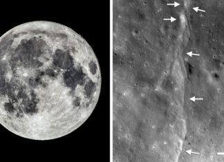 moon shrinking, moon geology, moon tectonics, moonquakes