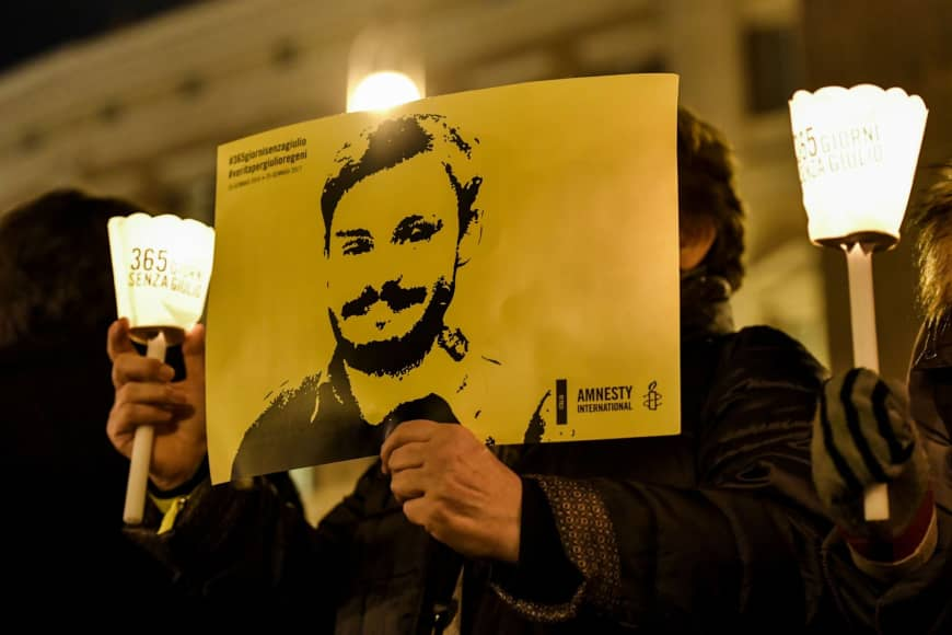 Giulio Regeni, Egypt thought Italian student was British spy, tortured and murdered him