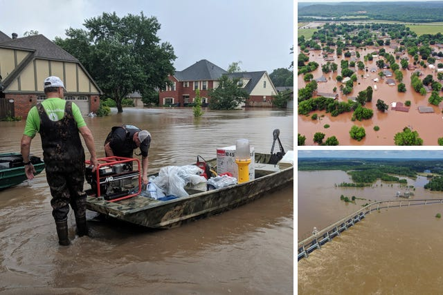 US flooding crisis: Two new levee breaches along the swollen
