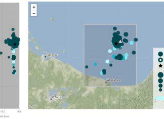 white island earthquake swarm, white island earthquake swarm map, white island earthquake swarm may 2019