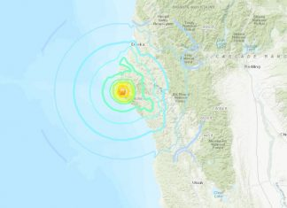 A M5.6 earthquake hit off Petrolia, northern California right at the southern tip of the Cascadia subduction zone on June 23 2019, A M5.6 earthquake hit off Petrolia, northern California right at the southern tip of the Cascadia subduction zone on June 23 2019 map, A M5.6 earthquake hit off Petrolia, northern California right at the southern tip of the Cascadia subduction zone on June 23 2019 video