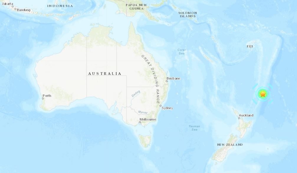 M7.2 earthquake hits Kermanec island on June 15, 2019 - Tsunami warnings for New Zealand. Earthquake map via USGS