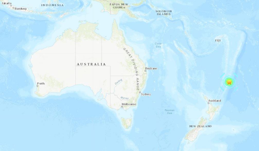 M7.2 earthquake hits Kermanec island on June 15, 2019 - Tsunami warnings for New Zealand. Earthquake map via USGS