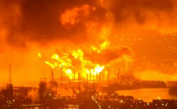 Philadelphia refinery explosion visible from space, Philadelphia refinery explosion visible from space video, Philadelphia refinery explosion visible from space pictures, Philadelphia refinery explosion shoots fireball visible from space