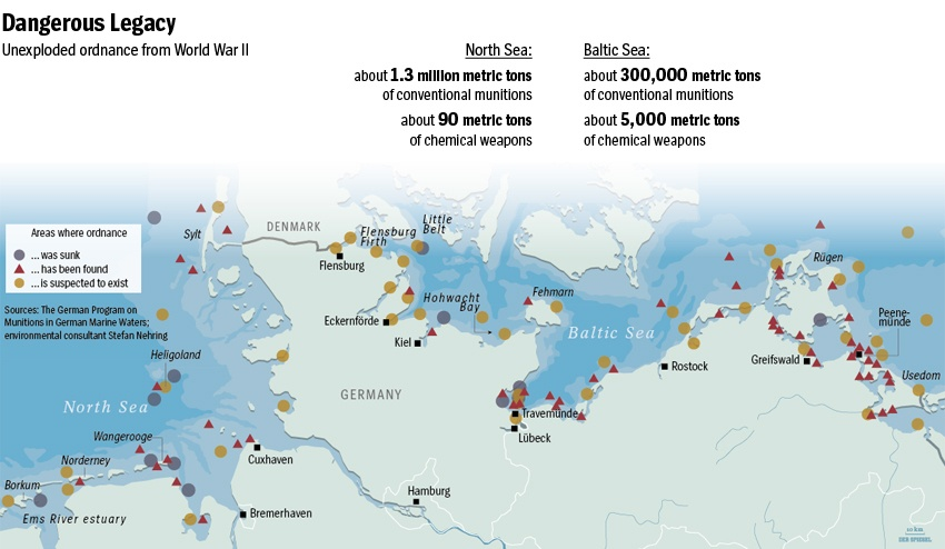 WWII munition threats north and baltic seas, WWII munition threats north and baltic seas video, WWII munition threats north and baltic seas photo